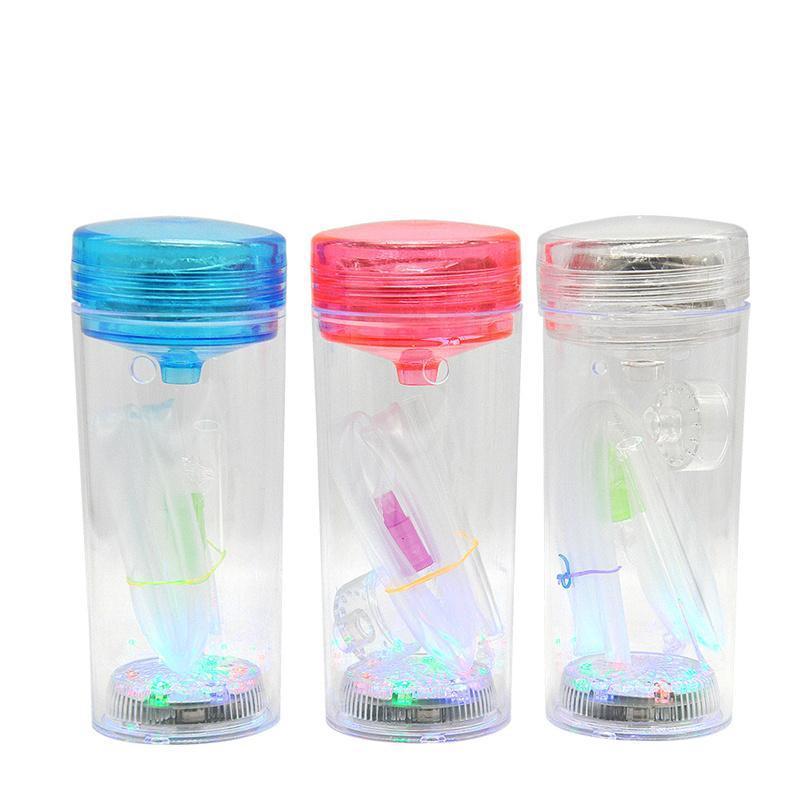 Mini arabische hukahn glas wasser pipe vapro led beleuchtung komplett set 1 Schlauchhülle shisha glas vase tragbare hukahn dab rig bong
