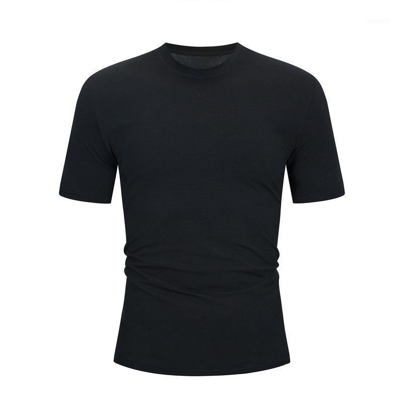Высокое качество 2020 новых мужских рубашек с коротким рукавом сплошной цвет с коротким рукавом рубашка рубашка мужская рубашка для мужчин дышащая Black1