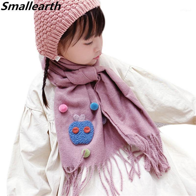 2020 Autumn Winter Warm Baby Long Scarf Boys Girls Neck Collar Kids Knitted Tassel Scarves Shawl Children Clothing Accessories1