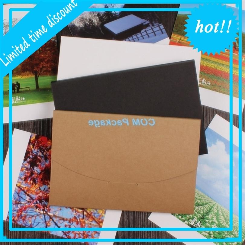 10.5x16 + 0.5cm Kraft Busta di carta Invito Lettera Cancelleria Packaging Bag Postcard Box Photo Box Regalo Greeting Card Copertina