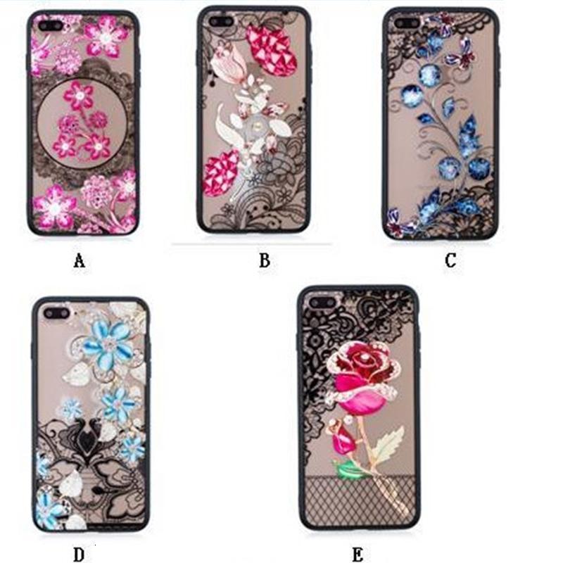 Paisley Rose Flower Henna Coque Coque pour téléphone floral XS MAX XR x 8 7 6 Galaxy S10 S10E S9 Plus Note9