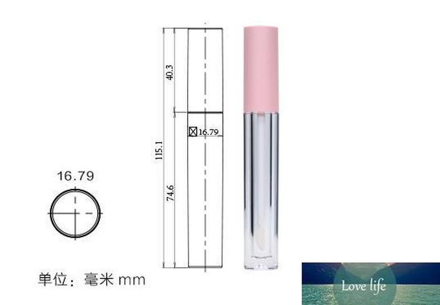 100 шт. 3 мл мини пустой блеск для губ образцы пробирки розовые крышки четкая помада губное масло кисть палочка бутылка косметический губные контейнеры
