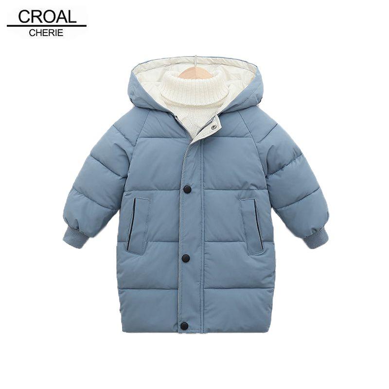 Croal CHERIE Snowsuit lange Jacken-Mantel-Baby-Junge Parka Kids Jacket Hood Winter Kinder-Jacken-Winter-Kleinkind-Oberbekleidung C1116