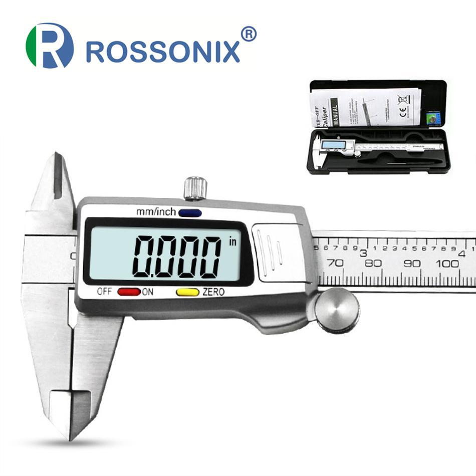 الرقمية الفرجار الفولاذ المقاوم للصدأ الإلكترونية الرقمية الورنية الفرجار 6 بوصة 150 ملليمتر معدن ميكرومتر قياس أداة T200602