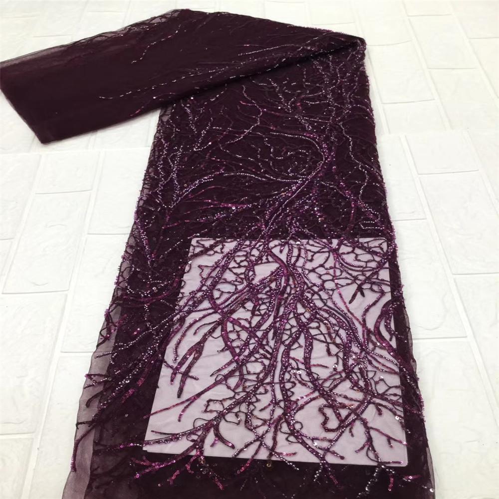 Tecido Africano de Alta Qualidade Lantejoulas Mesa de Handmake Lace Francesa Tulle Tecido Costura Tecidos de Laço Nigeriano para Vestido De Noiva