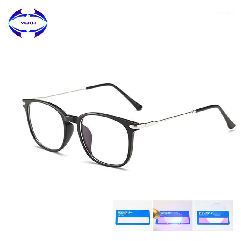 Vcka TR90 Anti azul Luz de bloqueo Gafas Mujeres Gafas de lectura Protección de lectura Eyewear Computador Gaming Hombres UV400 GAFAS LUZ AZU1
