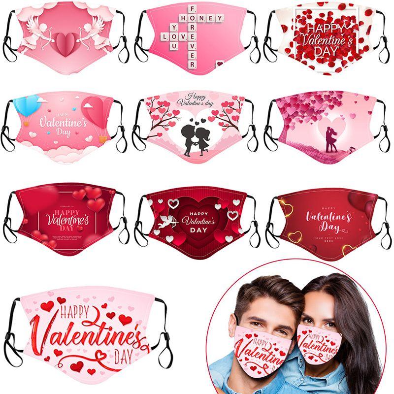 День Святого Валентина Маска для любви Объятие сердца Купидона Открытый пыль Маска хлопчатобумажная пара маски многоразовые с масками фильтр