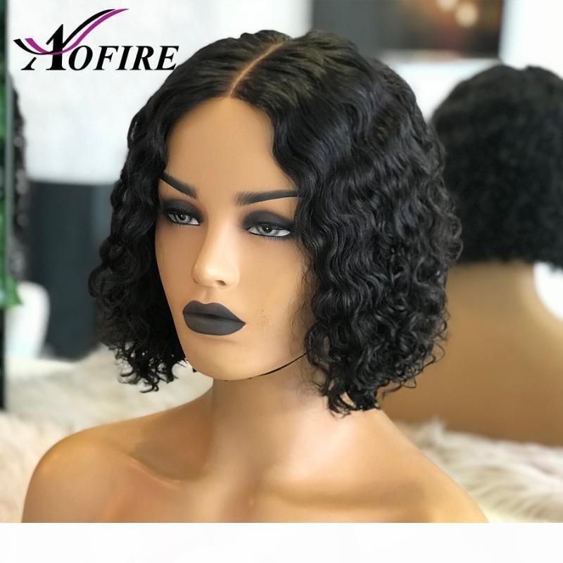 360 Dentelle Frontal Human Cheveux Perruques Nétaur Noire Pour Noir Femmes Brésilien Remy Cheveux Perruque Short Bob Curly 150% Précédent