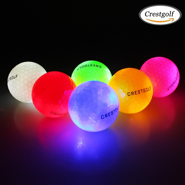 CRESTGOLF Su Geçirmez LED Golf Topları 4 Adet / Paket Gece Eğitimi için Yüksek Sertlik Malzeme Golf Uygulaması Topları 2019 Yeni Q1201