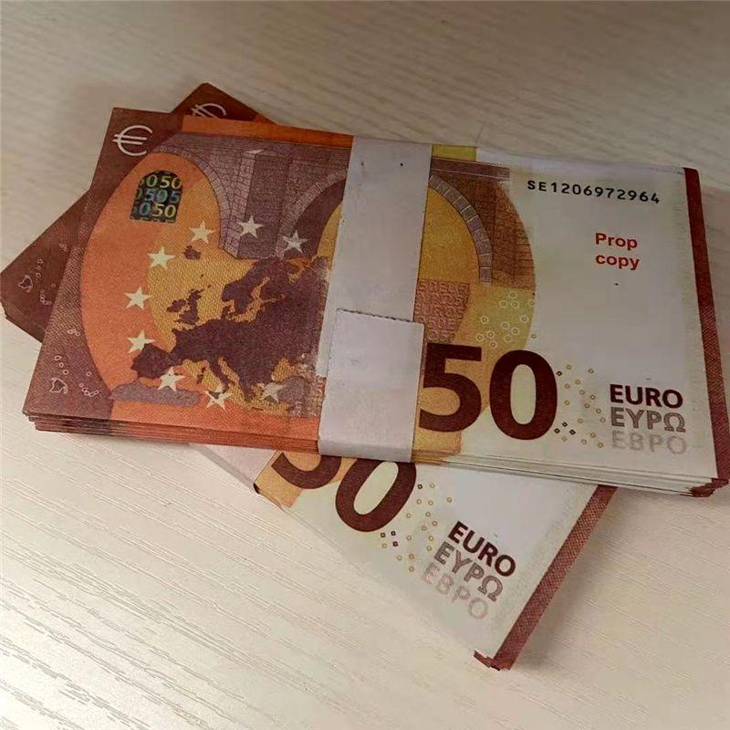 50 Requisiten Bar Atmosphäre Film Gefälschte Geld Requisiten Geschenke 1: 1 Simulationspapier Kinder Euro Währung Euro Billet Play Crafts Requisiten Party Faux D HDTP