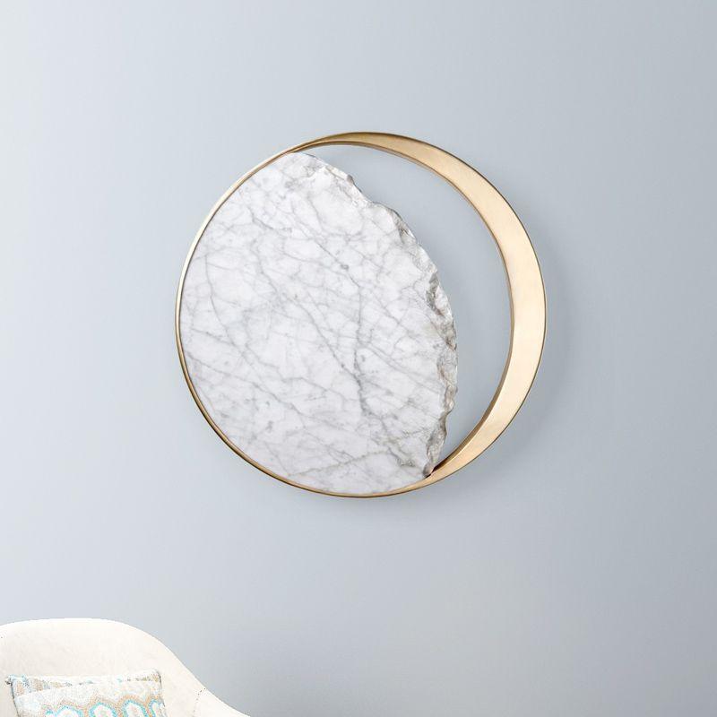 Moderno metallo marmo parete leggero casa soggiorno sala da pranzo camera da letto lampada da parete decorazione illuminazione apparecchio wa255
