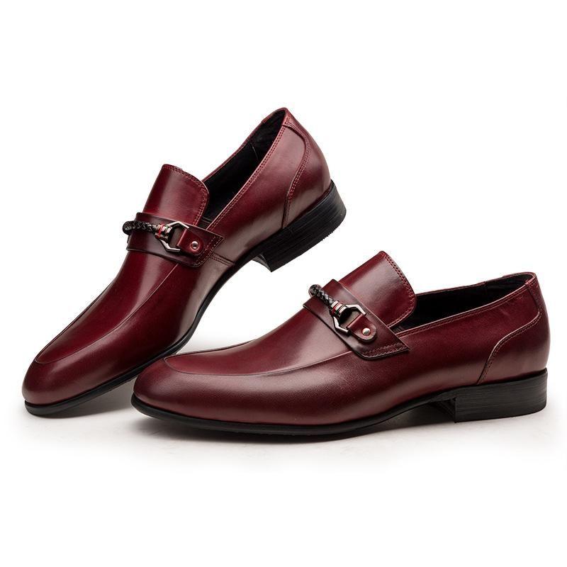 Männer Lederschuhe Business Formale Tragen Lederschuhe Arbeitskleidung Hohe Oxfords Chaussure Homme