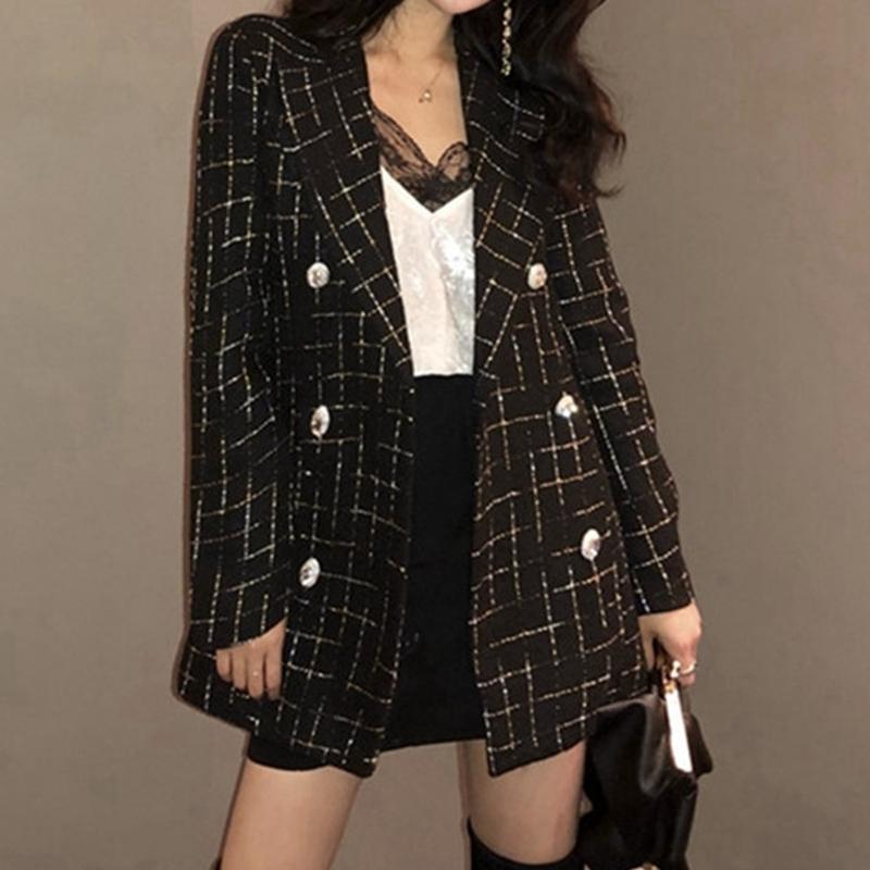 Tailor Shop Custom fabriqués sur le nouveau tempérament Petit FRAGRANCE Veste Jacket Femme à double boutonnage à double boutonnage
