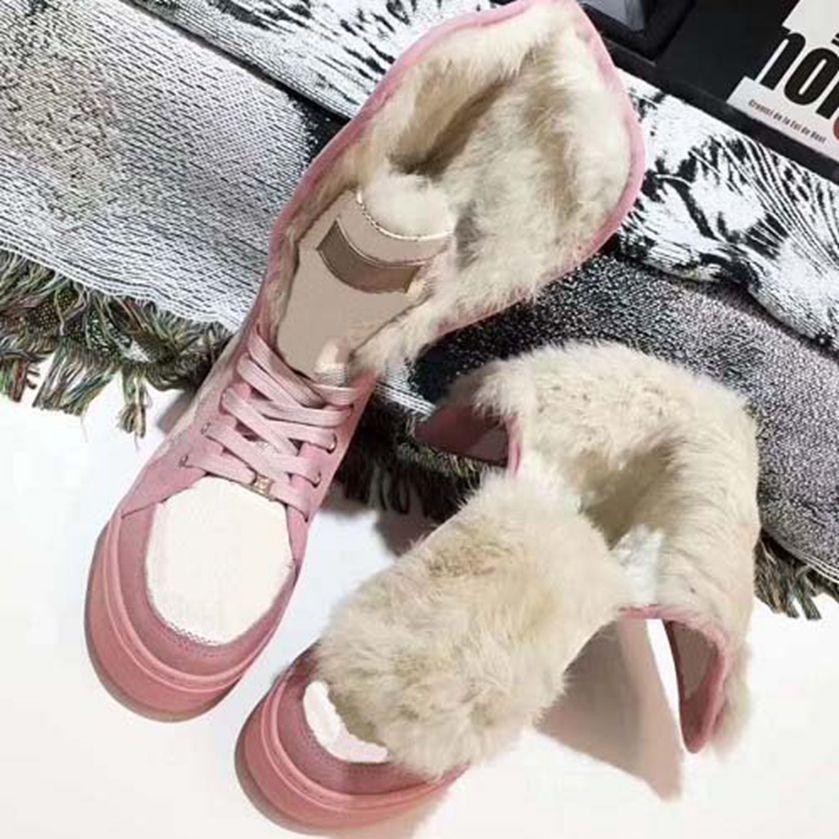 2021 Botas de Neve Sapatos Casuais Donne Rivestono Pelle Stivali Invernali Neve Stivali em Camoscio Pelliccia Reale Diapositiv Botas 35-42 01