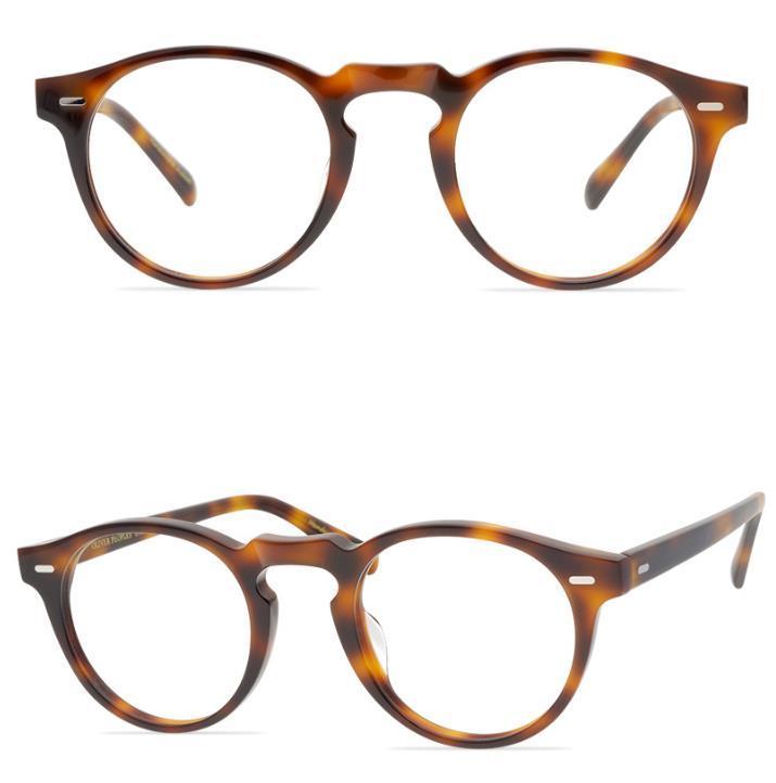 Óculos Ópticos Quadro Homens Prescrição Quadros Marca Retro Round Eyeglasses Frames para Mulheres Myopia Óculos Quadro Gregory Peck Eyewear