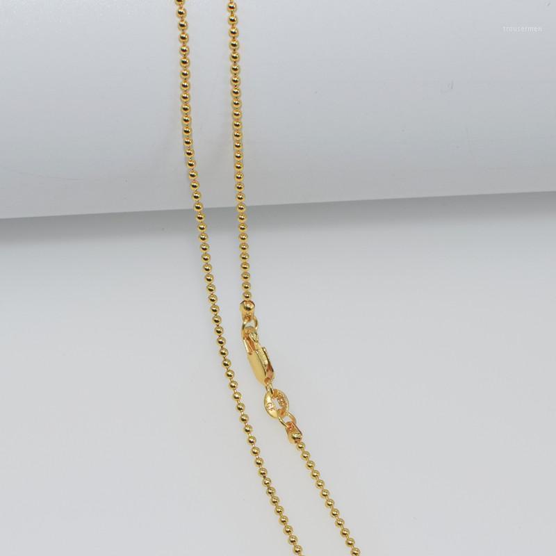 1pcs all'ingrosso collana oro riempito collana moda gioielli perline a sfera a sfera a sfera a sfera 2mm collana 16-30 pollici ciondolo catena del pendente11