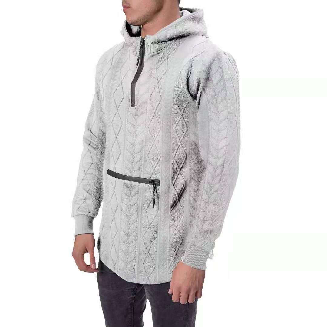 Homens ao ar livre dos homens outono e inverno zíper bolsa cavando suéter casual jaqueta jaqueta casual masculina