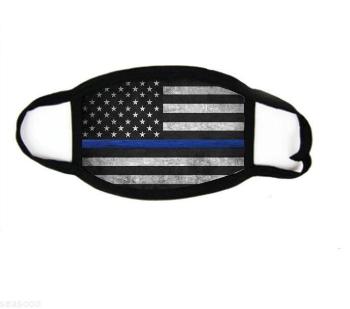 Baskı Mavi Çizgi Yüz Maskeleri Trump Seçim Malzemeleri Toz Geçirmez Evrensel Erkekler Ve Kadınlar Için Amerikan Bayrağı Maskesi Ücretsiz Kargo