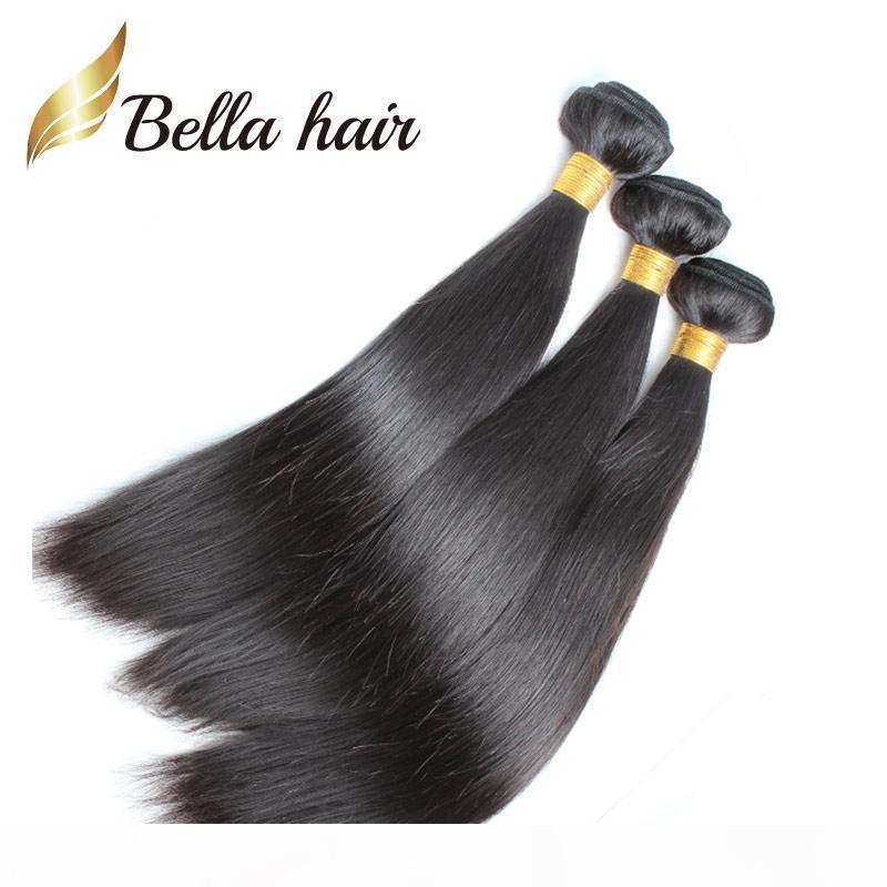 Queen Hai Cale Grade 8A 100% индийские волосы уток 3шт 3шт натуральный натуральный цвет шелковистые прямые наращивания волос бесплатная доставка