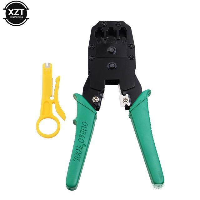 Networking Tools Ethernet 45 Crimper Stripper Network Cable Cutting Tool lier Kits utp Tester RJ11 RJ12 Cat5 Cat5e Connector 8P6P4P