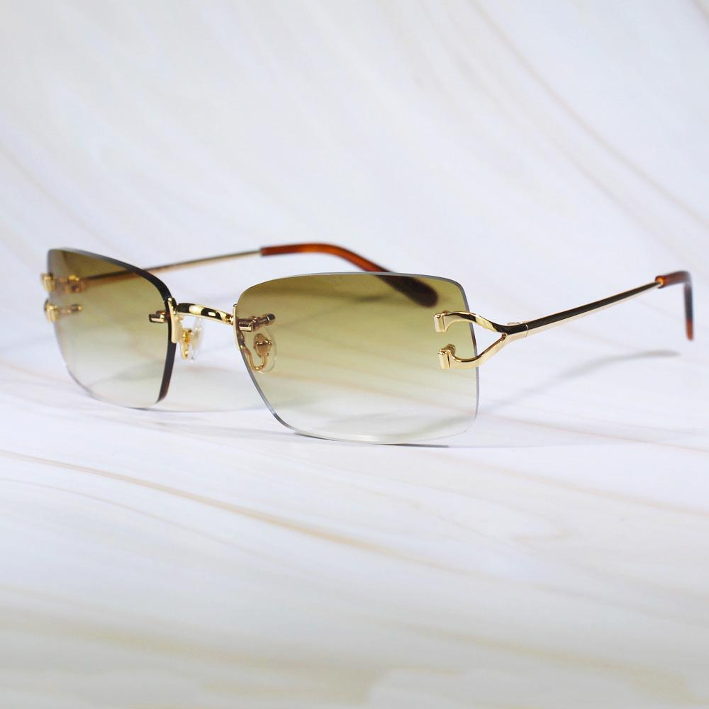 Mode Lunettes de soleil Luxury Eyewear Femmes Attacé pour Sans Hoop Retro Man Carter Masques Designer Drive YCLU MVDCH