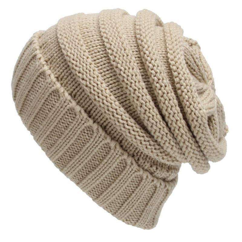Hommes d'hiver d'automne et en tricot de laine Casual Joker Loose Chapeaux de chapeaux pour femmes Créateur Bonnet