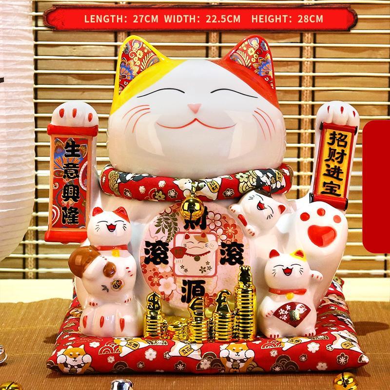 Il regalo fortunato dell'ornamento adorabile può stringere le mani Maneki Neko Decorazione della casa Regali