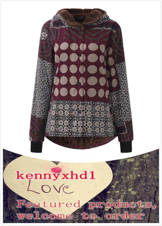 Neue großformatige frauen kleidung plus samt dicke nationale stil gedruckt mit kapuze baumwollmantel mode tend