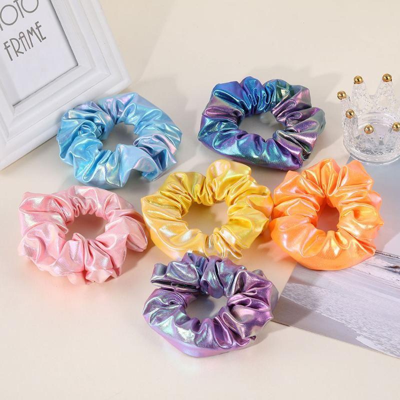 Mulheres Silk Scrunchie Elastic Hair Bands Handmade Multicolor Costeiro Titular Headband 2021 Acessórios de Cabelo Coreano para Menina