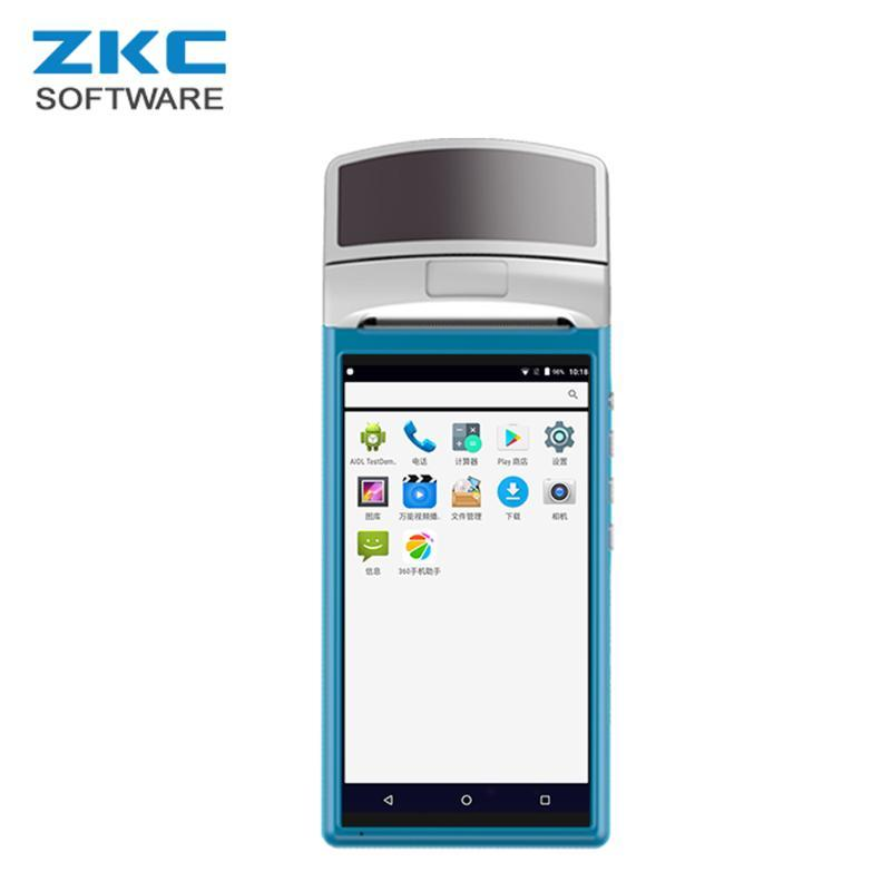 ZKC5501 WCDMA NFC Android Mobile Handheld alle in einem Smart-Touch-Screen-Restaurant PDA-Terminal mit Thermodruckern