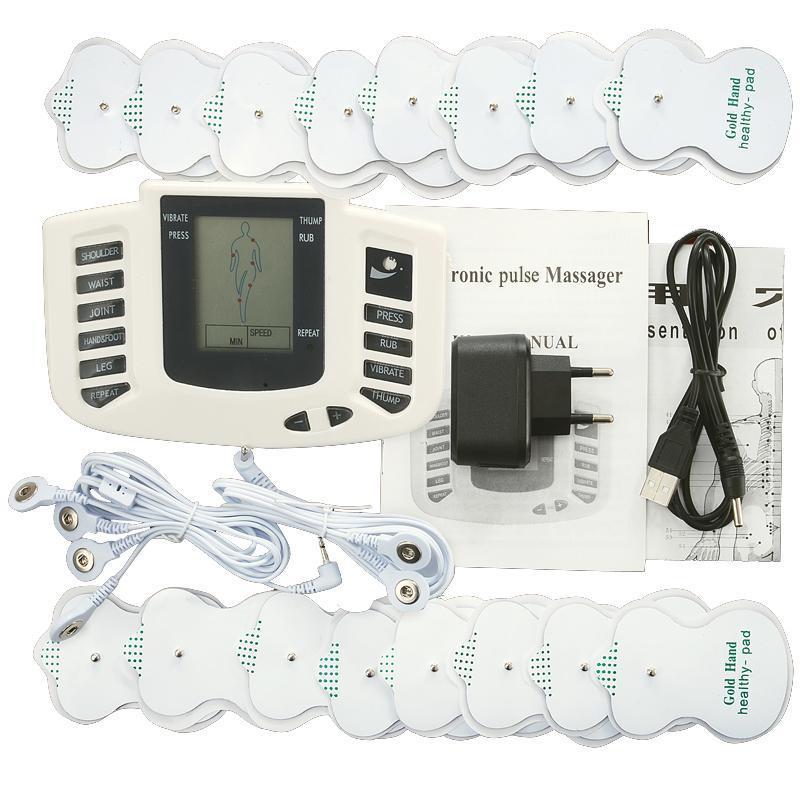 عشرات ems مدلك الكهربائية التحفيز العضلي مشجعا electrostimulator fisioterapia آلة العلاج الطبيعي 16 منصات
