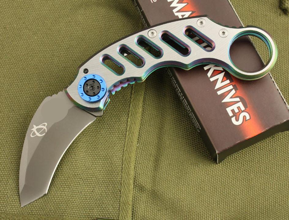 Karambit Messer60 Klappmesser Camping Tool ToolsUntriger Hight Qualität Bräunung Taktisches Taschenmesser EDC-Werkzeug Großhandel