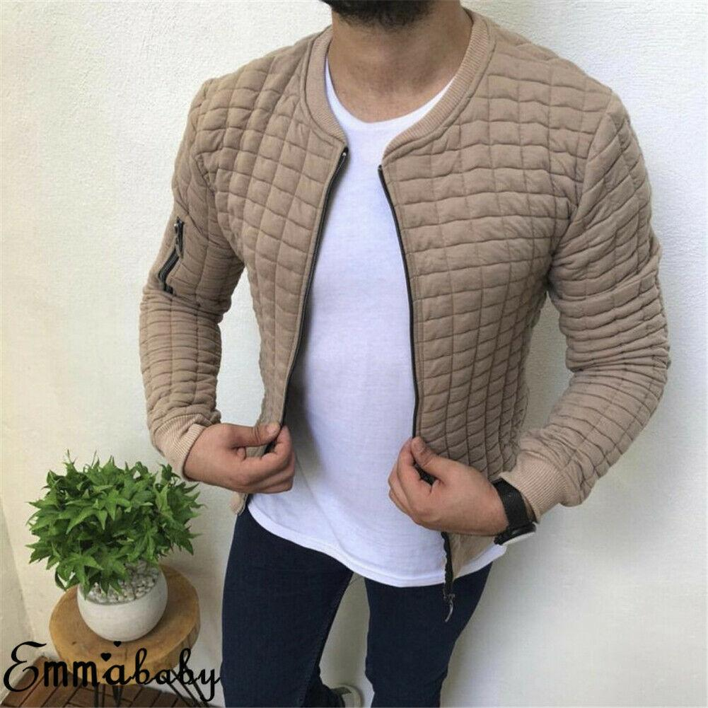 2019 m-xxxl plus neue mode männer reißverschluss baumwolle mantel winter massiv mantel outwear langarm feste gitter jacke