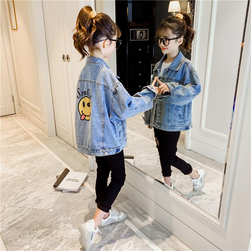 Version de la fille de Jeans de la fille 2020 nouveau printemps et automne version coréenne des vêtements d'enfants de style étranger mince haut mode