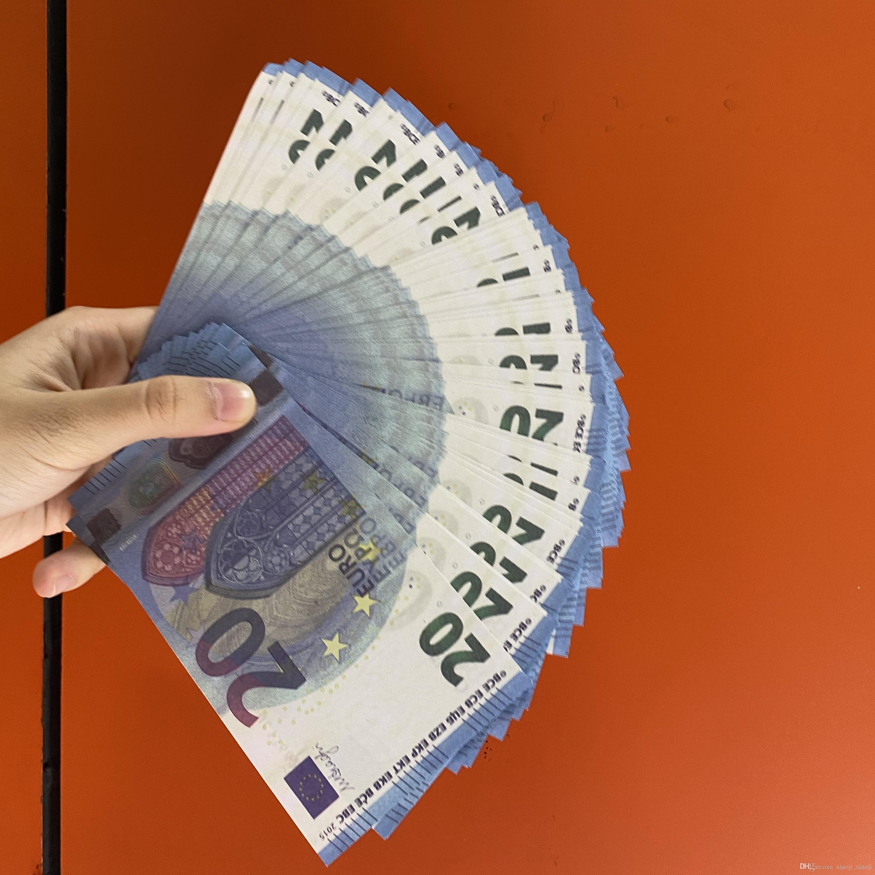 BAMBINI GIOCO SOLDI O COPURA FAMIGLIA PROPRIALE REALISTICA / EURO / Dollaro 100pcs / Pack Documento La maggior parte delle banconote US Toy261 DVHNS