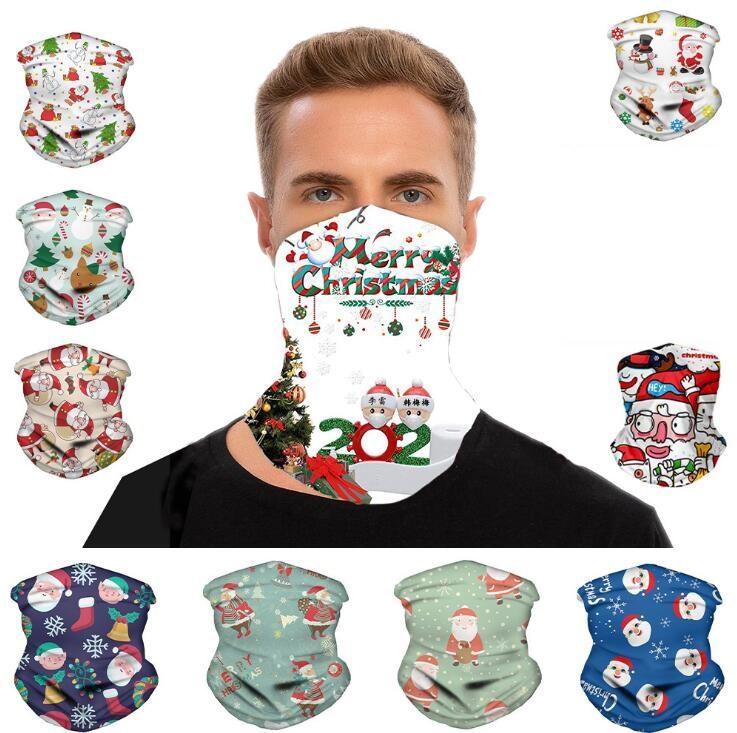 Chirstmas Designer Maske Magie Headscarf Outdoor Sports Stirnband Schals Staubpoof Cycing Bandana Visier Hals Weihnachten Dekorationen CCA12642