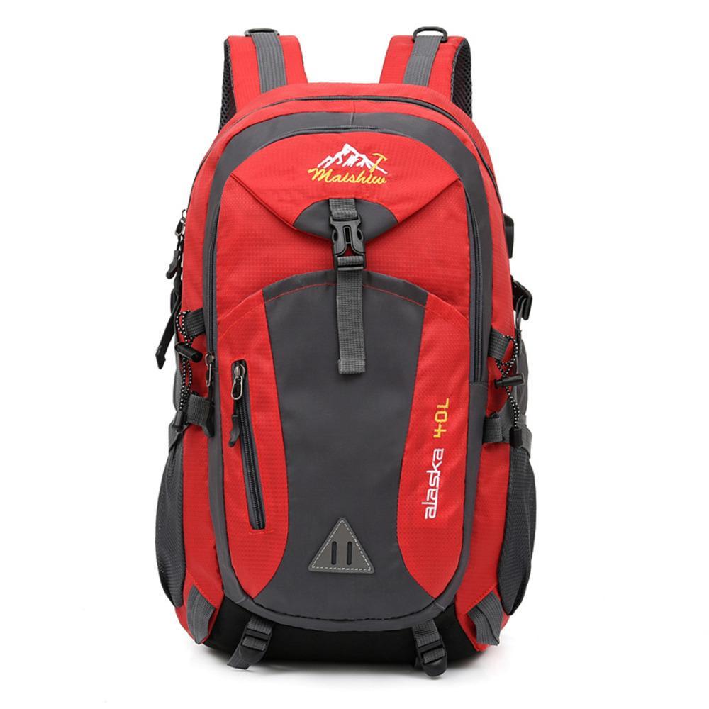 40L Unisex impermeable Hombres Mochila Paquete de viaje Paquete de bolso deportivo Paquete de montañismo al aire libre Senderismo Senderismo Camping Mochila para hombre C1223