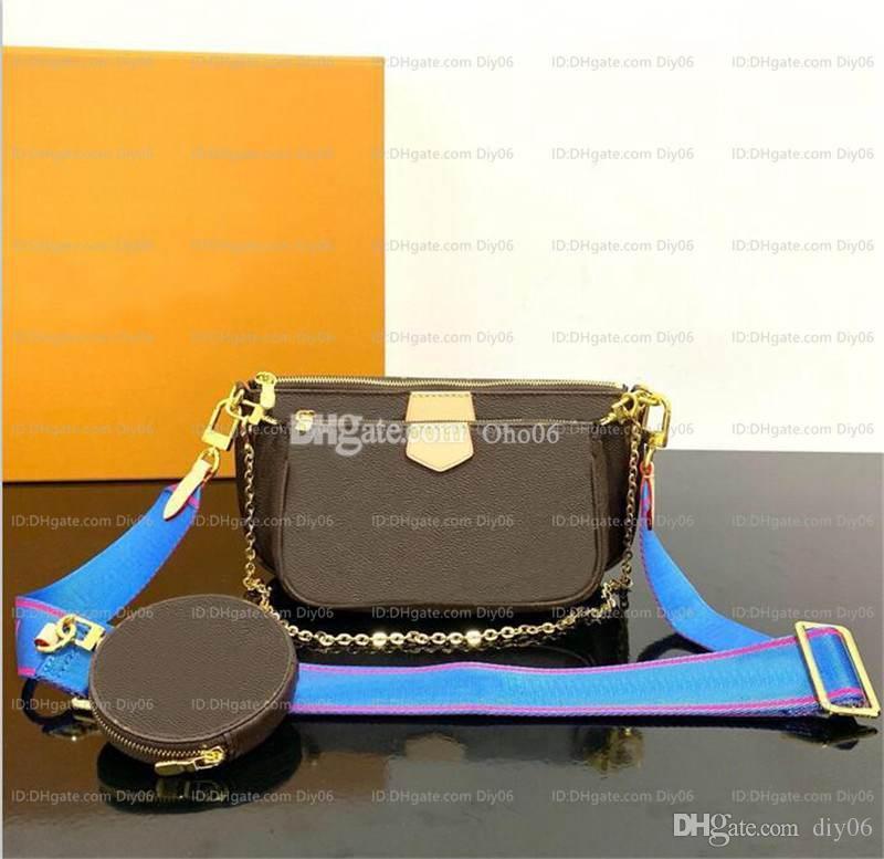 Рождественские сумки Real Luxurys дизайнеры сумки 2020 коробки подарки сумки плечо + кошелек + сумка кожаные женские сумки кошельки с CROS RHXFV