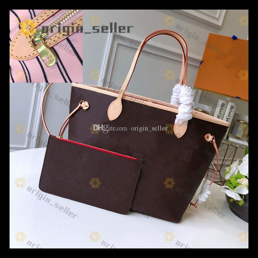 ESCALE NEVERFULL M45128 handbag tote bag Nuevo estilo de las mujeres de envío Big Bag solos bolsos de hombro de la señora totalizadores bolsos de gran tamaño bolsa de