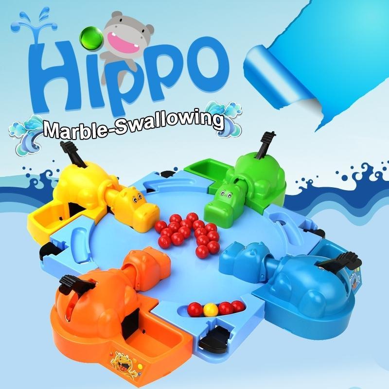 Engraçado Brinquedo Alimentando Bolas de Hipopótamo Marble-engolindo Novidade Brinquedo Fome Hipopótamo Jogo de Desktop para 4 Pessoa Novo Brinquedo Fantasia para Crianças Y200428