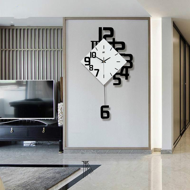 Relojes de pared reloj de estilo europeo sala de estar silencioso moda columpio creativo dormitorio cuarzo relojes