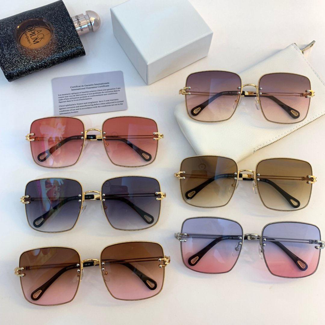 Kadınlar için Lüks Tasarımcı Güneş Gözlüğü Popüler Moda 628s Yaz Büyük Yüz Stil En Kaliteli UV Koruma Lens Ücretsiz Gelinlik