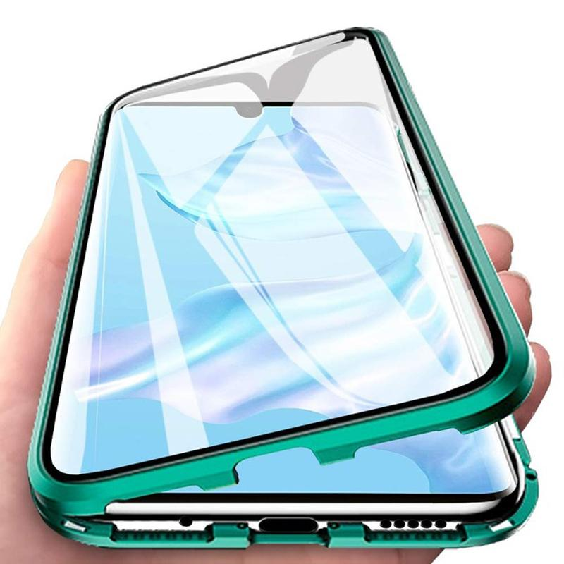 Phone Case For Samsung Galaxy S20 FE M51 A01 A21 A20 A10 A20E A70 S M31 M21 Double-Sided Tempered Glass Case