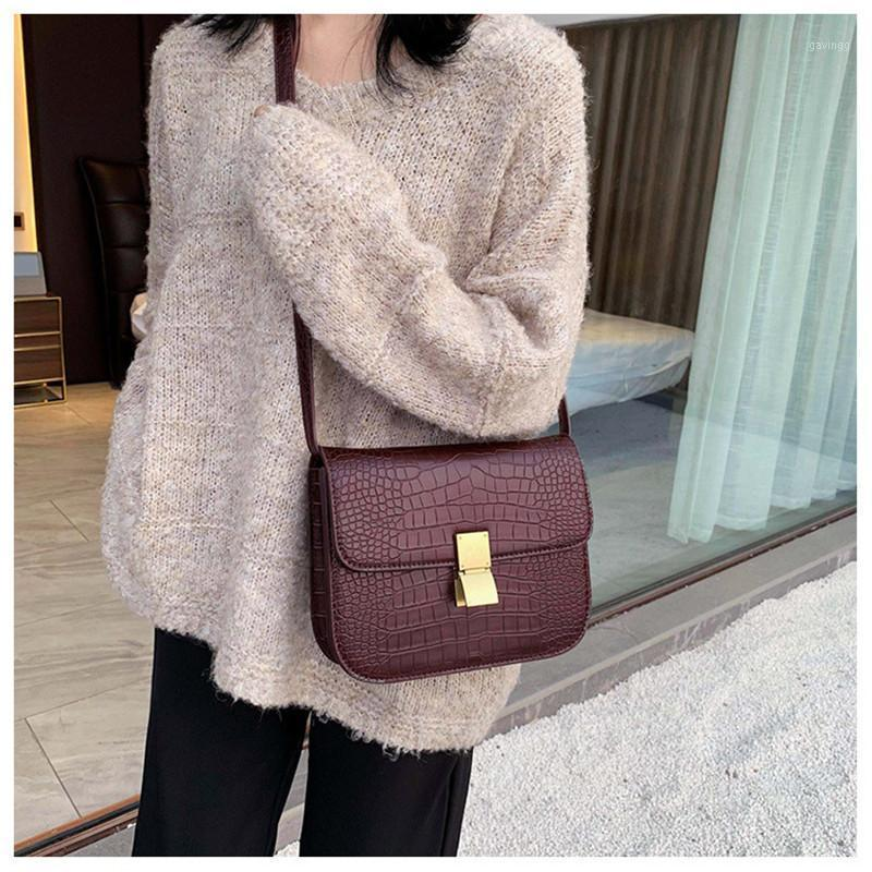 Stone Pattern Pu Leather Small Crossbody Bags For Women Shoulder Messenger Bag Female Metal Black Ladies Mini Hand Bag1