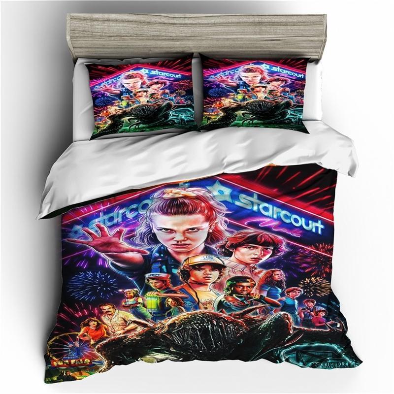 Dropshipping Biancheria da letto Set 3D Stampato Piumino Cover Letto Set Straniero Thiss Home Tessuti per adulti Bedlethes con pillowcas LJ201127