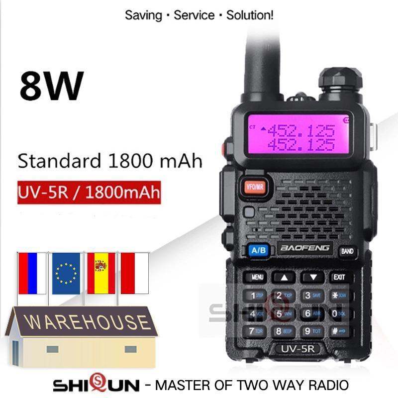 무전기 Talkie 업그레이드 8W Baofeng UV-5R 10 KM UV5R Walkie Talkie Hunting Ham Radio UV 5R UV-9R UV-82 UV-8HX UV-XR