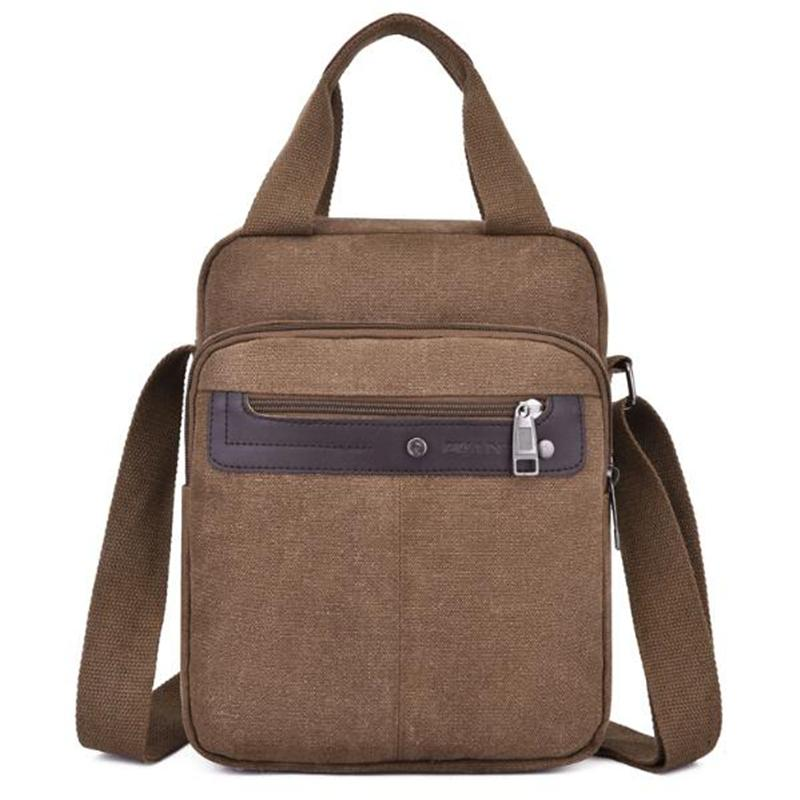 Man Canvas Crossbody Bags Messenger Bag Casual Zipper Pocket Handbag Fashion Tote Travel Male Shoulder Bag