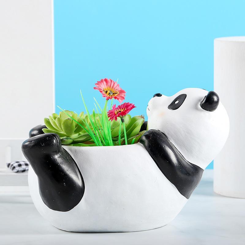 Animal creativo Sencillo Resina Craft Fleshy Flowerpot Garden Handicraft Ornament Q1215