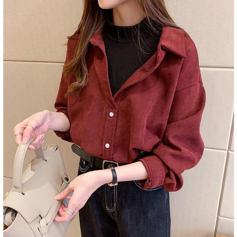 Falsas dos camisas Mujeres elegante de moda estilo coreano todo coincidencia de alta calidad blusas para mujer suave casual