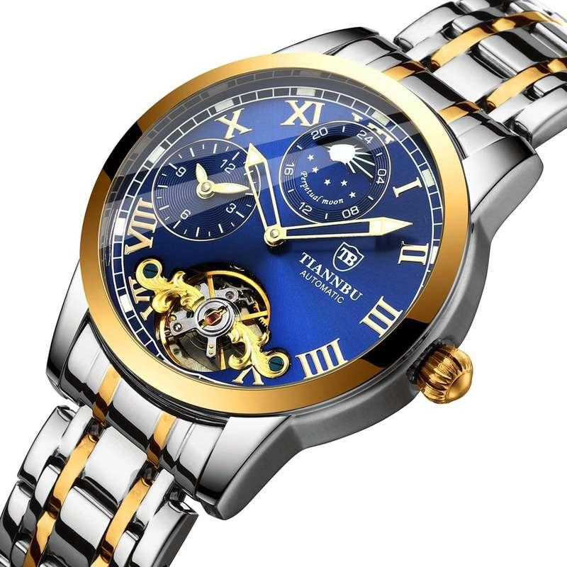 Orologio meccanico di alta qualità originale orologio automatico orologio meccanico impermeabile a doppia farfalla luminosa